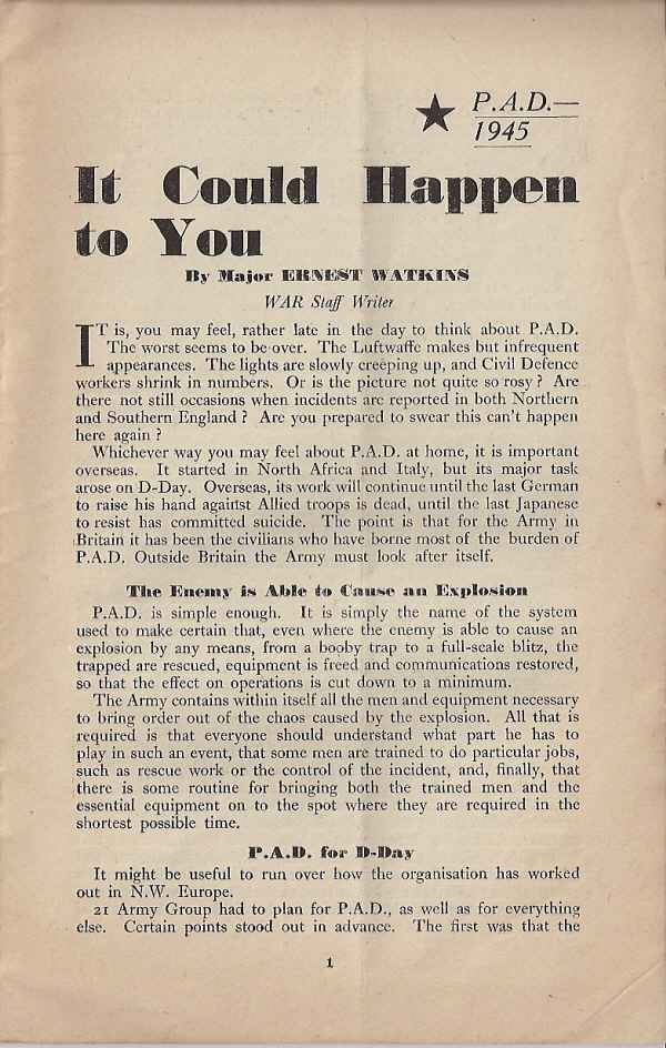 PAD 1945 - It could happen to you