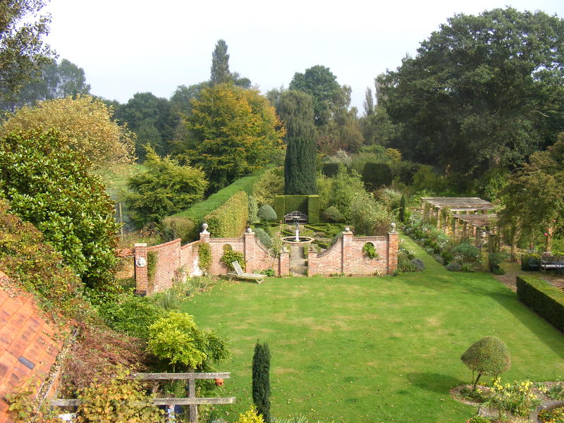 The garden viewed from the house