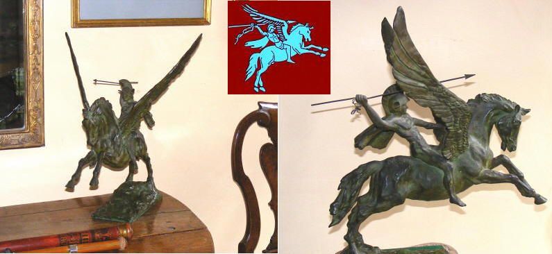 Bellerophon and Pegasus where discovered, repositioned for a clearer view, and the British Army's 1st Airborne badge