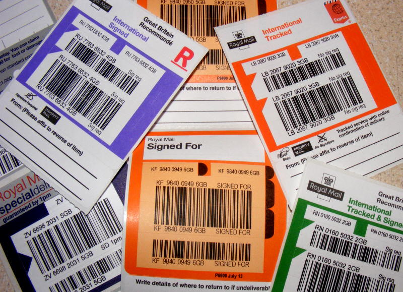 Tracking labels help prevent lost mail