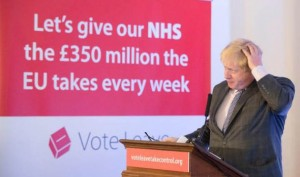 Boris Johnson and Brexit slogan
