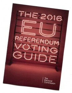 Electoral Commission booklet